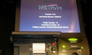 Follow My Vote - WinVote electronic voting booth machine