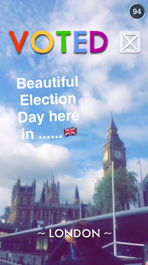 Follow My Vote - snapchat election story