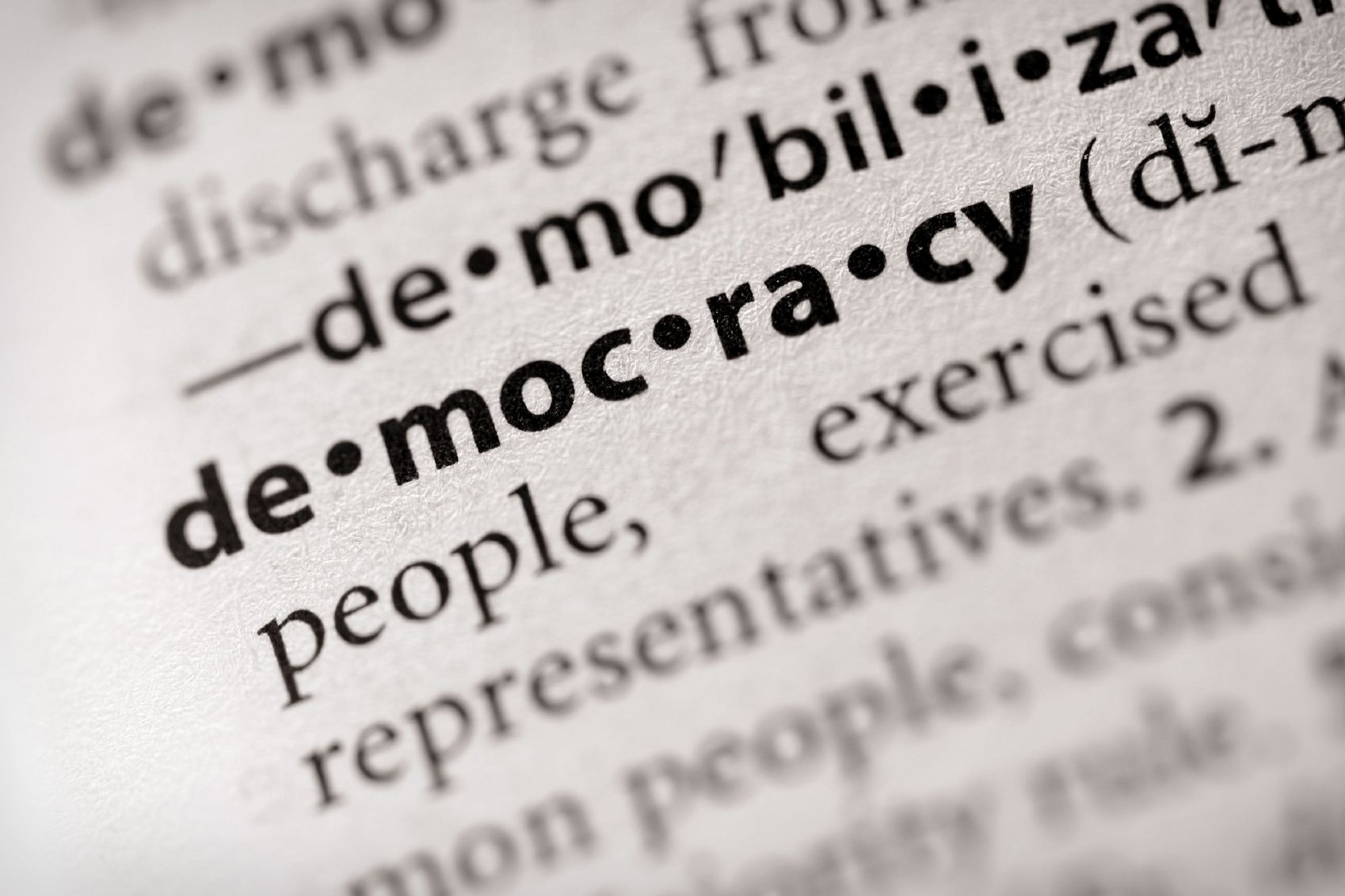 Definition of democracy essay