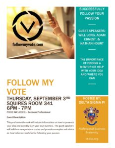 Follow my vote event