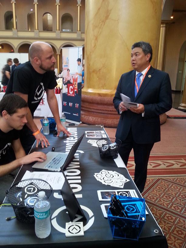 Congressman Mark Takai at TechDay- Follow My Vote