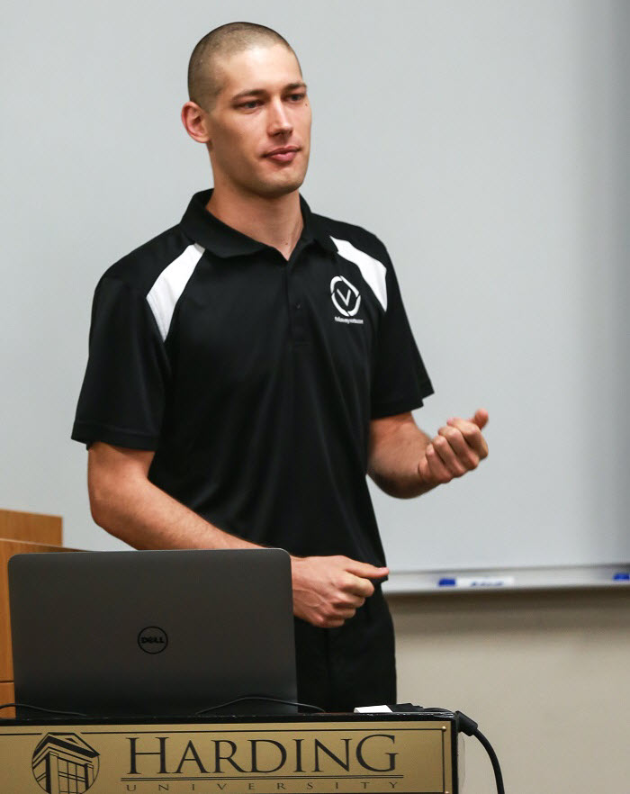 blockchain speech at Harding